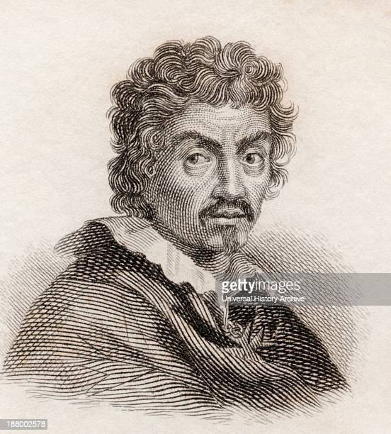 Michelangelo Merisi Da Caravaggio 1571 To 1610 Italian Artist From Crabb's Historical Dictionary Published 1825
