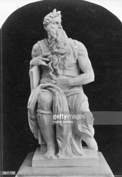 Michelangelo's sculpture of Old Testament Hebrew prophet Moses circa 1530