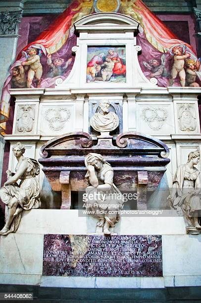 Michelangelo's Tomb in Basilica of Santa Croce - Florence, Italy