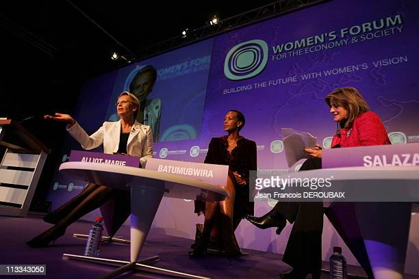 Michele Alliot Marie Minister Of Defence On October 07Th 2006 In Deauville France Here The Women'S Forum 2006 Michele AillotMarie Minister Of Defence...
