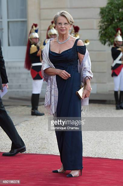 Michele AlliotMarie arrives at the Elysee Palace for a State dinner in honor of Queen Elizabeth II hosted by French President Francois Hollande as...