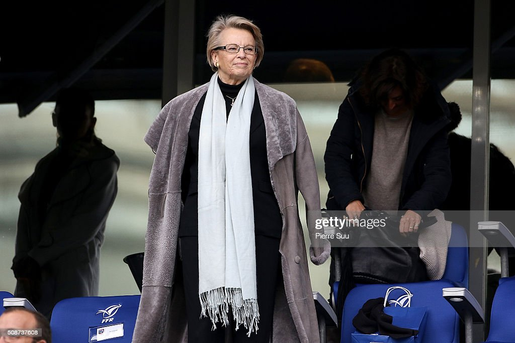 Michele Alliot-Marie attends RBS Six Nations match between France and Italy at Stade de France on February 6, 2016 in Paris, France.