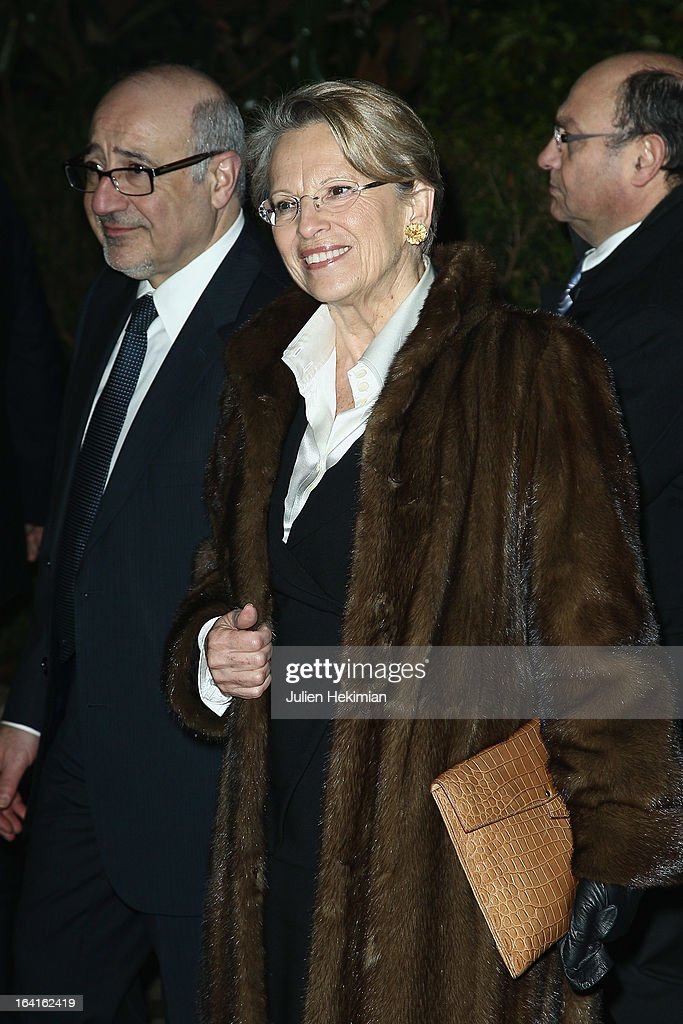 Michele Alliot-Marie attends the 28th Dinner of 'Conseil Rrepresentatif Des Institutions Juives De France at Pavillon d'Armenonville on March 20, 2013 in Paris, France.