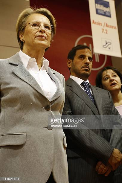 Michele AlliotMarie French Interior Minister and Qatari Interior Minister Sheikh Abdullah bin Nasser bin Khalifa Al Thani inaugurated Milipol in...