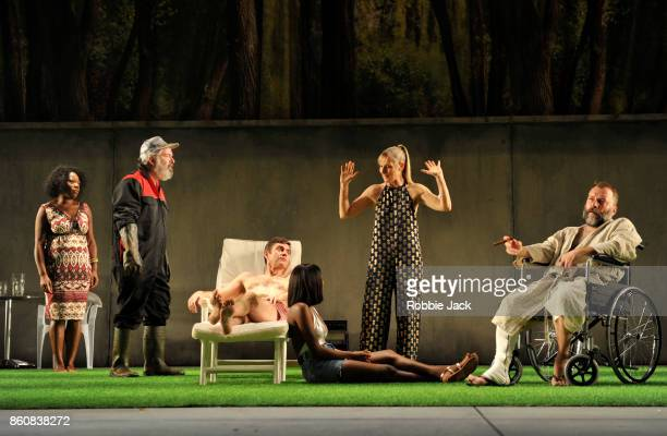 Michele Austin as Pauline Lloyd Hutchinson as Leo Paul Higgins as Hugo Adelayo Adedayo as Nina Lesley Sharp as Irina and Nicolas Tennant as Peter in...