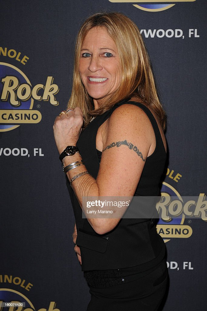 Michele Balan attends Footlighters Club Roast of Sal Richards at Hard Rock Live! in the Seminole Hard Rock Hotel & Casino on January 25, 2013 in Hollywood, Florida.