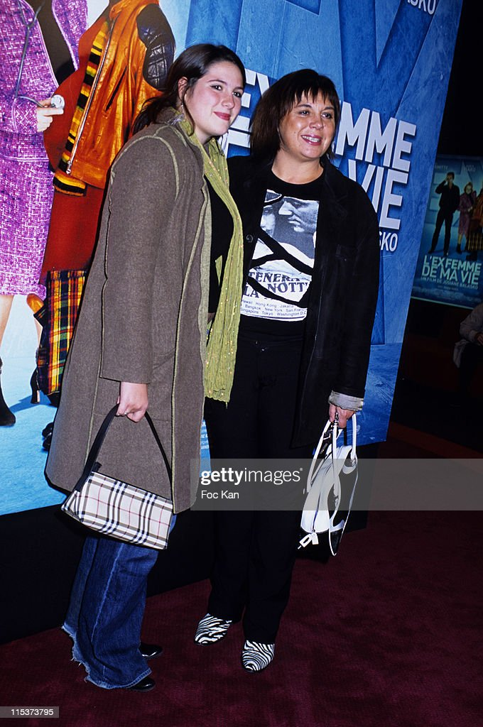 Michele Bernier and Daughter Charlotte during 'The Ex Woman Of My Life' - Paris Premiere at Gaumont Marignan in Paris, France.