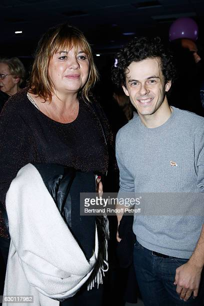 Michele Bernier and Michael Gregorio pose after Michael Gregorio performed for his 10 years of Career at AccorHotels Arena on December 16 2016 in...