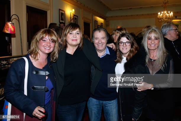 Michele Bernier standing vitw Actor of the play Daniel Russo his wife Lucie and their daughters attend 'La Recompense' Theater Play at Theatre...