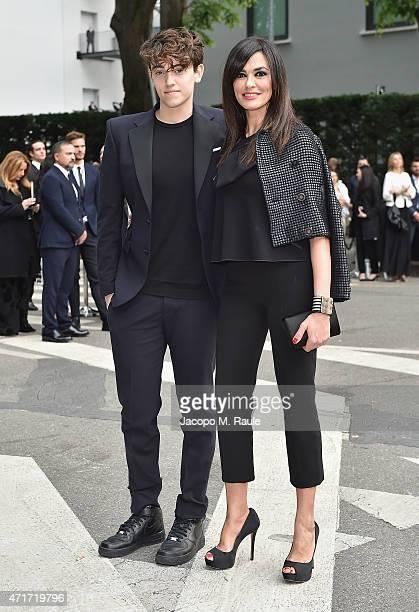 Michele Bravi and Maria Grazia Cucinotta attends the Giorgio Armani 40th Anniversary Silos Opening And Cocktail Reception on April 30 2015 in Milan...