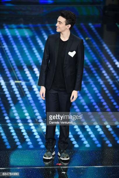 Michele Bravi attends the closing night of 67th Sanremo Festival 2017 at Teatro Ariston on February 11 2017 in Sanremo Italy