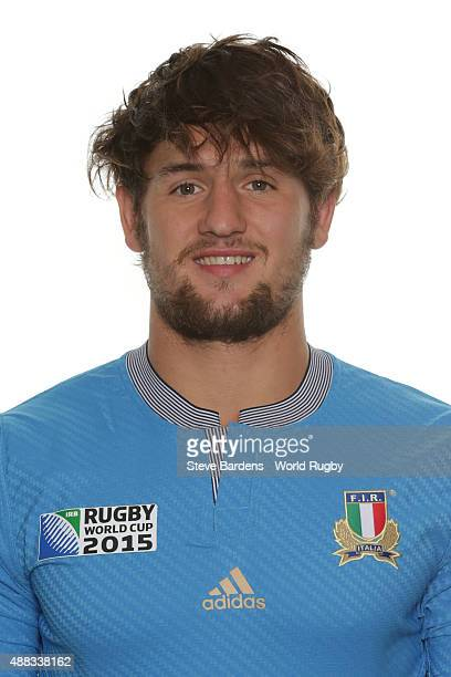Michele Campagnaro of Italy poses during the Italy Rugby World Cup 2015 squad photo call at the Radisson Blu on September 15 2015 in Guildford England