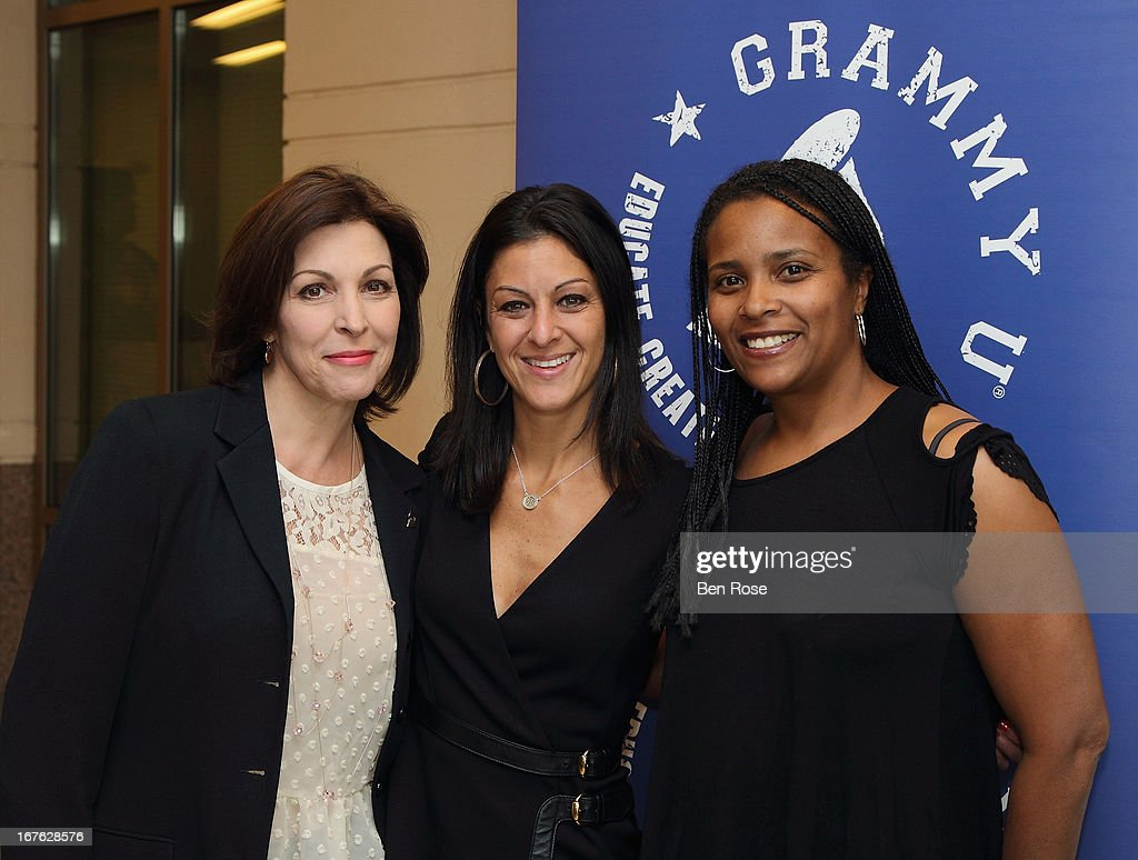 Michele Caplinger, Jodie Blum and Erin Baxter attend GRAMMY U Presents: Era of the Engineer at Emory University Center for Ethics on April 26, 2013 in Atlanta, Georgia.