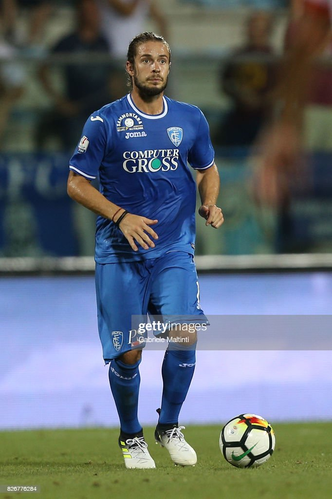 Michele Castagnetti of Empoli Fc in action during the TIM Cup match between Empoli FC and Renate at Stadio Carlo Castellani on August 5, 2017 in Empoli, Italy.