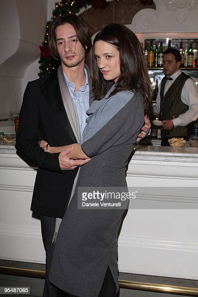 Michele Civetta and Asia Argento attend the third day of the 14th Annual Capri Hollywood International Film Festival on December 29 2009 in Capri...