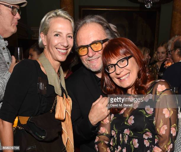 Michele Clapton Alessandro Bertolazzi and guest attend the Academy of Motion Picture Arts and Sciences new members party at Spencer House on October...
