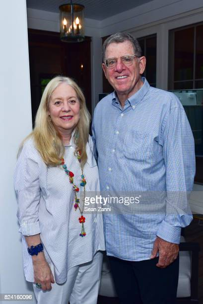 Michele Cohen and Marty Cohen attend NYSCF Summer Cocktail Reception at a Private Residence on July 28 2017 in Sagaponack New York