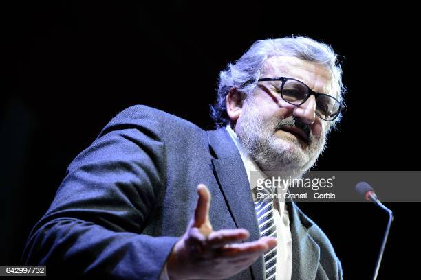 Michele Emiliano during the assembly in Teatro Vittoria in Rome of the minority of Democratic Party organized by dissidents on February 18 2017 in...