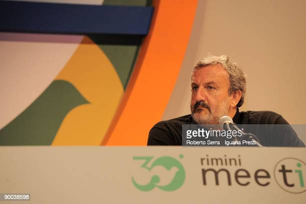Michele Emiliano Major of Bari attends to the 30th Meeting of Friendship among the Peoples on August 24 2009 in Rimini Italy Diplomats politicians...