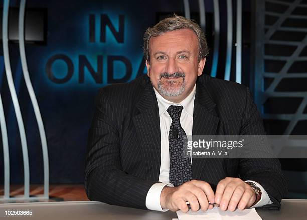 Michele Emiliano mayor of Bari appears during 'In Onda' TV show at La7 Studios on June 28 2010 in Rome Italy