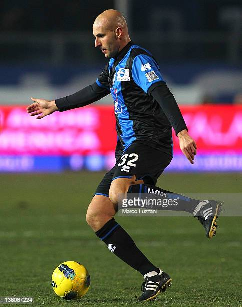 Michele Ferri of Atalanta BC in action during the Serie A match between Atalanta BC and AC Cesena at Stadio Atleti Azzurri d'Italia on December 21...