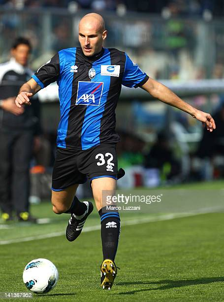Michele Ferri of Atalanta BC in action during the Serie A match between Atalanta BC and Parma FC at Stadio Atleti Azzurri d'Italia on March 11 2012...