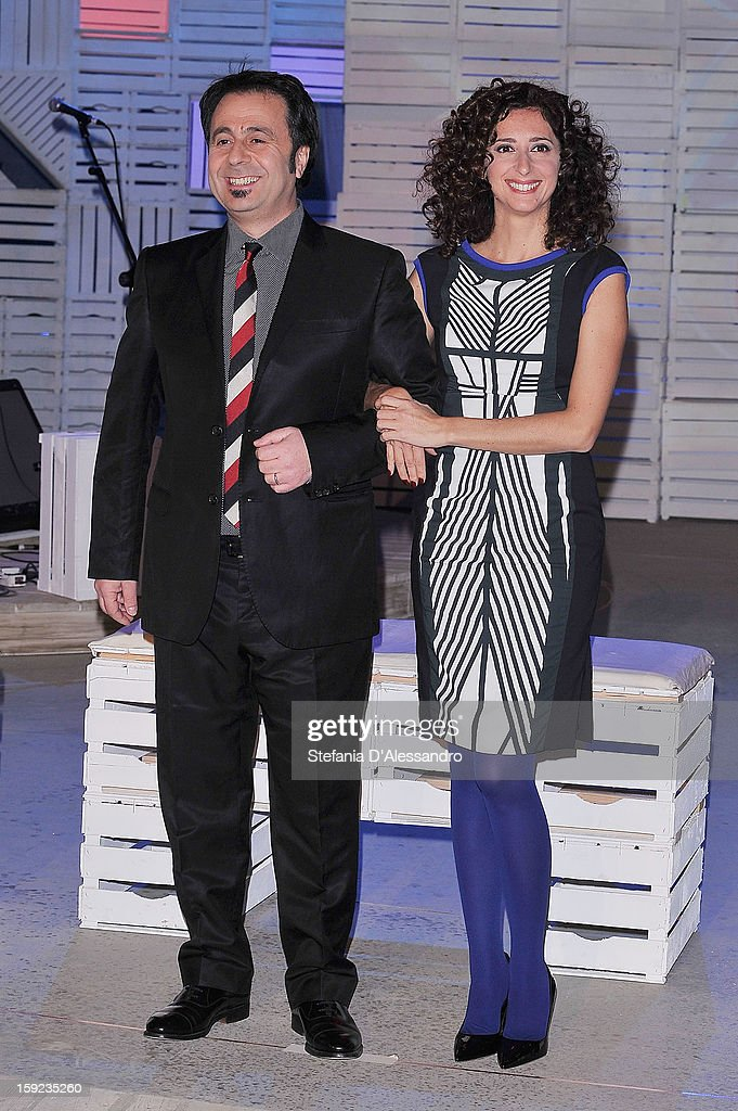 Michele Foresta and Teresa Mannino attend 'Zelig Circus 2013' Italian TV Show Photocall on January 10, 2013 in Milan, Italy.