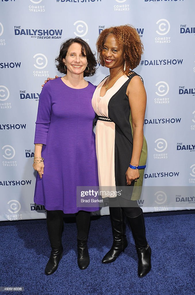 Michele Ganeless, Comedy Central President(L) and Television personality Holly Walker attends Comedy Central's The Daily Show With Trevor Noah Premiere Party Event on October 22, 2015 in New York City.