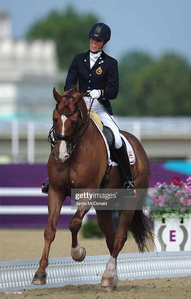 Michele George of Belgium rides Rainman to win Gold during the Equestrian Dressage Individual Freestyle Test - Grade IV on day 6 of the London 2012 Paralympic Games at Greenwich Park on September 4, 2012 in London, England.