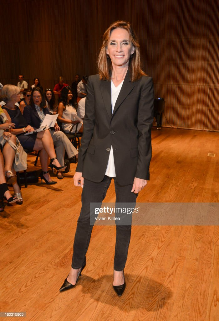 Michele Gerber Klein is seen on the front row at the Douglas Hannant fashion show during Mercedes-Benz Fashion Week Spring 2014 on September 11, 2013 in New York City.