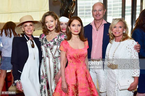 Michele Herbert Margo Langenberg Jean Shafiroff Prince Dimitri of Yugoslavia and Sharon Bush attend Bastille Day Party Hosted by Jean Shafiroff at Le...