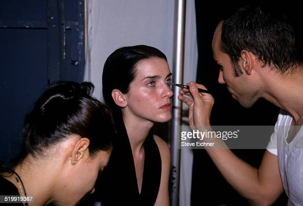 Michele Hicks at Marc Jacobs fashion show backstage makeup New York November 3 1997