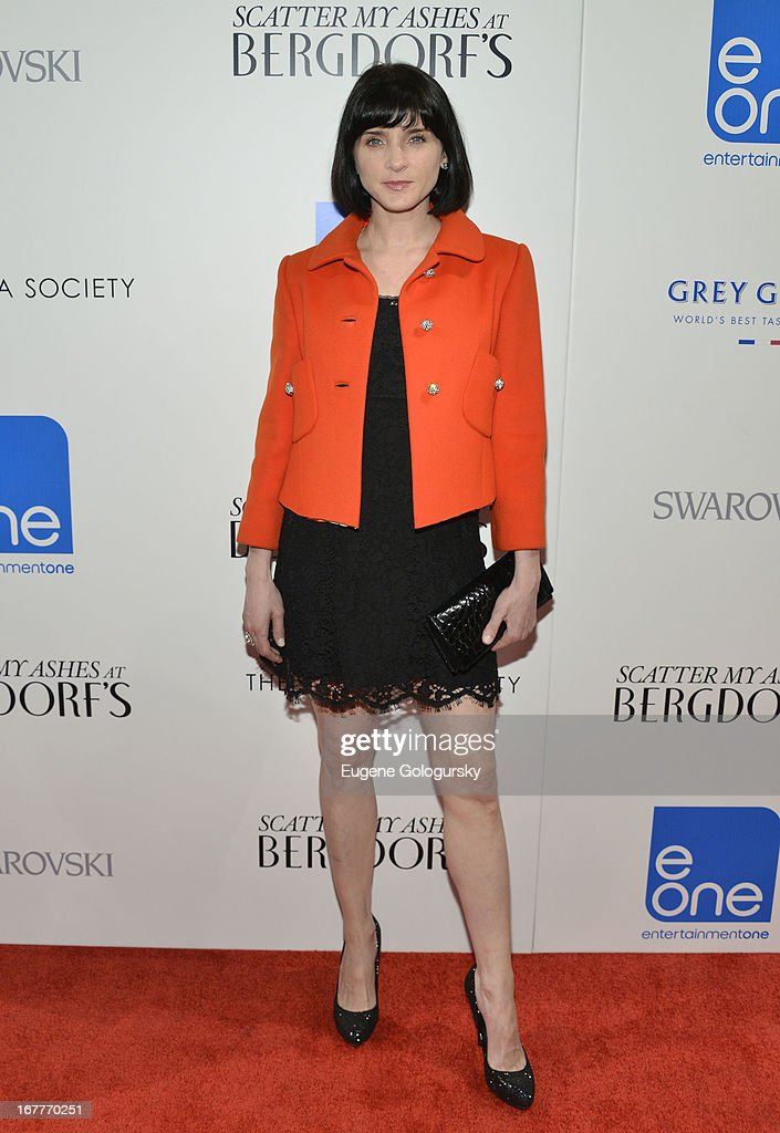 Michele Hicks attends the Cinema Society with Swarovski & Grey Goose premiere of eOne Entertainment's 'Scatter My Ashes at Bergdorf's' at Florence Gould Hall on April 29, 2013 in New York City.