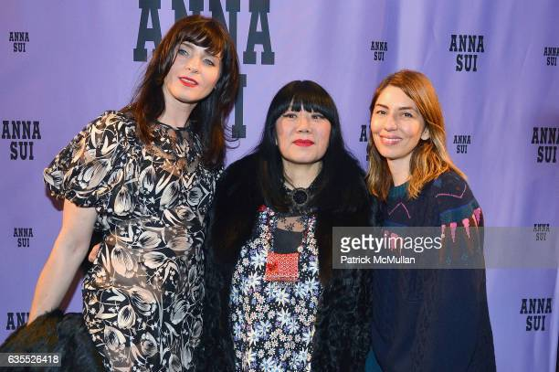 Michele Hicks Designer Anna Sui and Sofia Coppola pose backstage at the Anna Sui Fall/Winter 2017 Show during New York Fashion Week The Shows on...