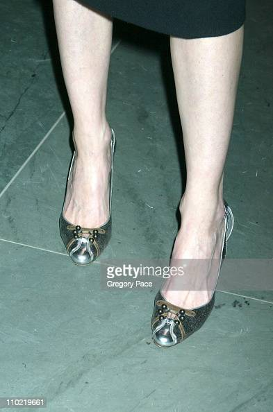 Michele Hicks's shoes during 'A Work in Progress An Evening with Marc Forster' Arrivals and Inside at The Museum of Modern Art in New York City New...