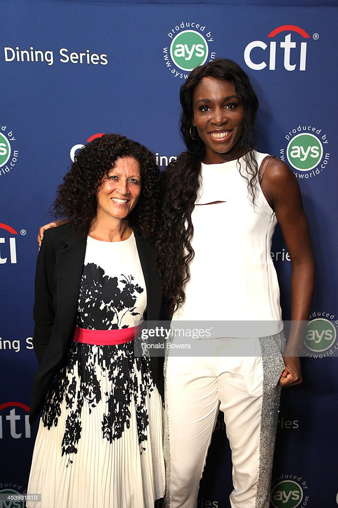 Michele Imbasciani of Citibank (L) and tennis player <a gi-track='captionPersonalityLinkClicked' href=/galleries/search?phrase=Venus+Williams&family=editorial&specificpeople=171981 ng-click='$event.stopPropagation()'>Venus Williams</a> attend Taste Of Tennis Week: Taste Of Tennis Gala at the W New York on August 21, 2014 in New York City.