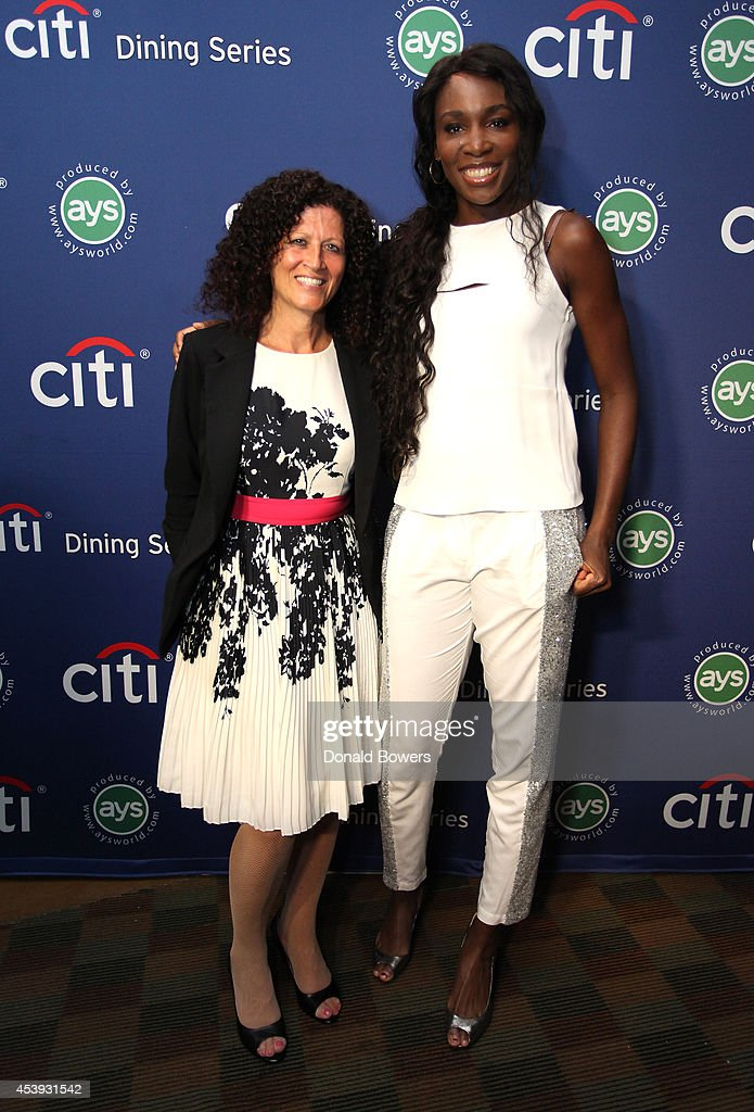 Michele Imbasciani of Citibank (L) and tennis player Venus Williams attend Taste Of Tennis Week: Taste Of Tennis Gala at the W New York on August 21, 2014 in New York City.