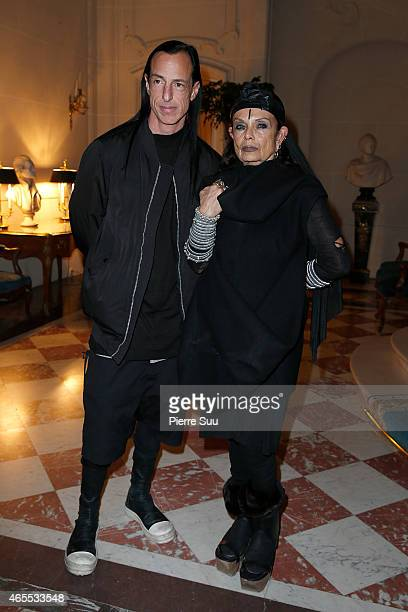 Michele Lamy and Rick Owens attend the T The New York Times Style Magazine Party as part of the Paris Fashion Week Womenswear Fall/Winter 2015/2016...