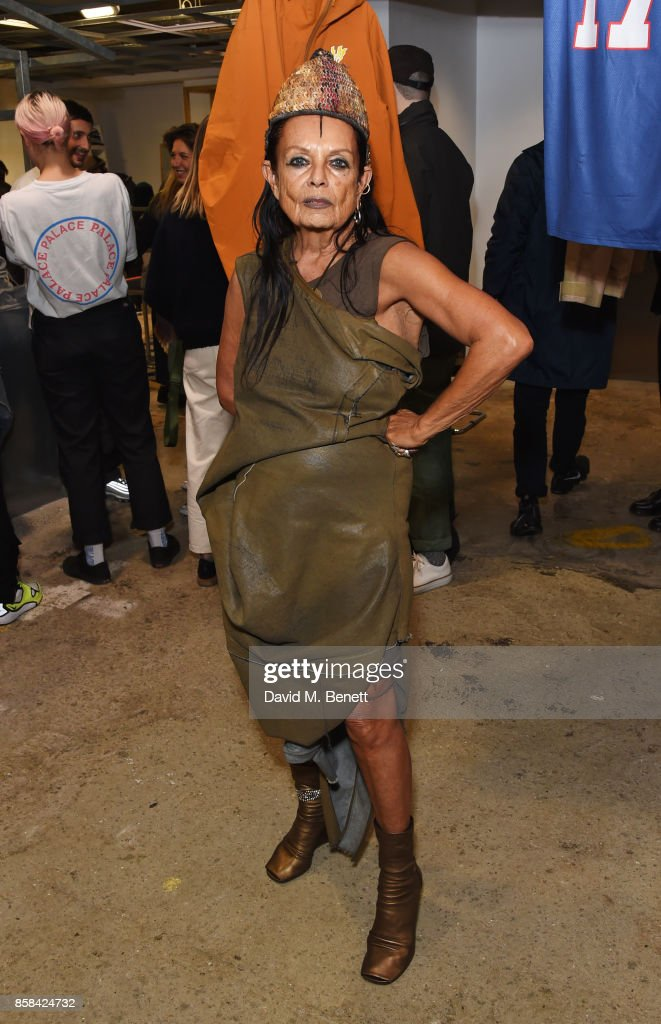 Michele Lamy attends the Dover Street Market open house on October 6, 2017 in London, England.