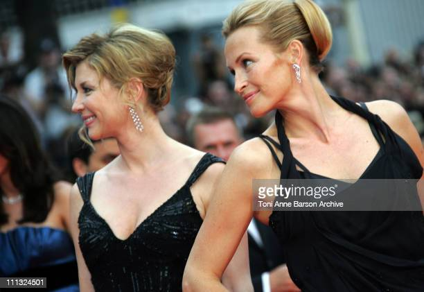 Michele Laroque and Estelle Lefebure during 2007 Cannes Film Festival 'We Own The Night' Premiere at Palais des Festivals in Cannes France