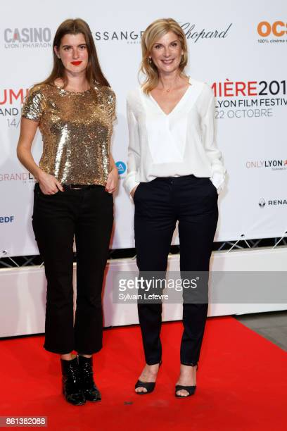 Michele Laroque and Oriane Deschamps attend opening ceremony of 9th Film Festival Lumiere In Lyon on October 14 2017 in Lyon France