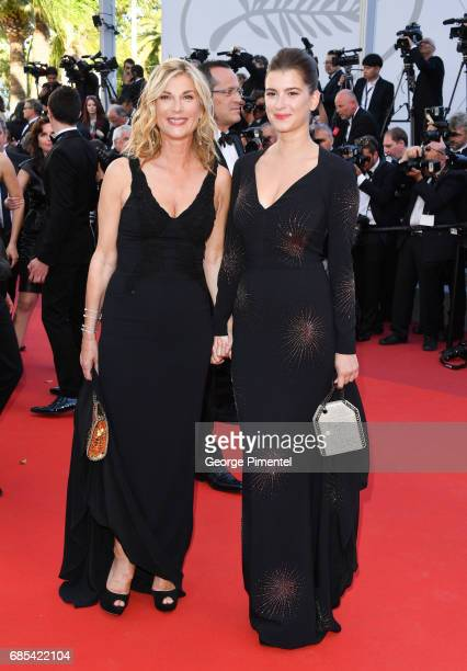 Michele Laroque and Oriane Deschamps attend the 'Okja' screening during the 70th annual Cannes Film Festival at Palais des Festivals on May 19 2017...