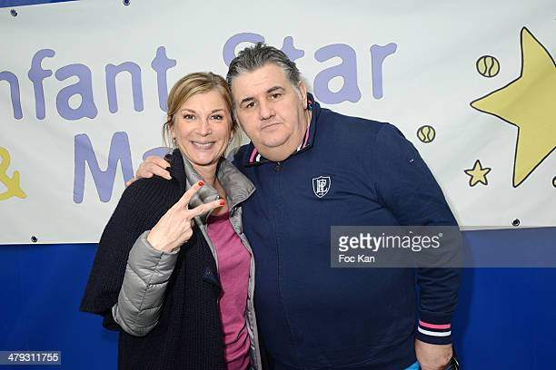 Michele Laroque and Pierre Menes attend '60 Pour Enfant Star et Match' Auction Cocktail at Tennis Club de Paris on March 17 2014 in Paris France