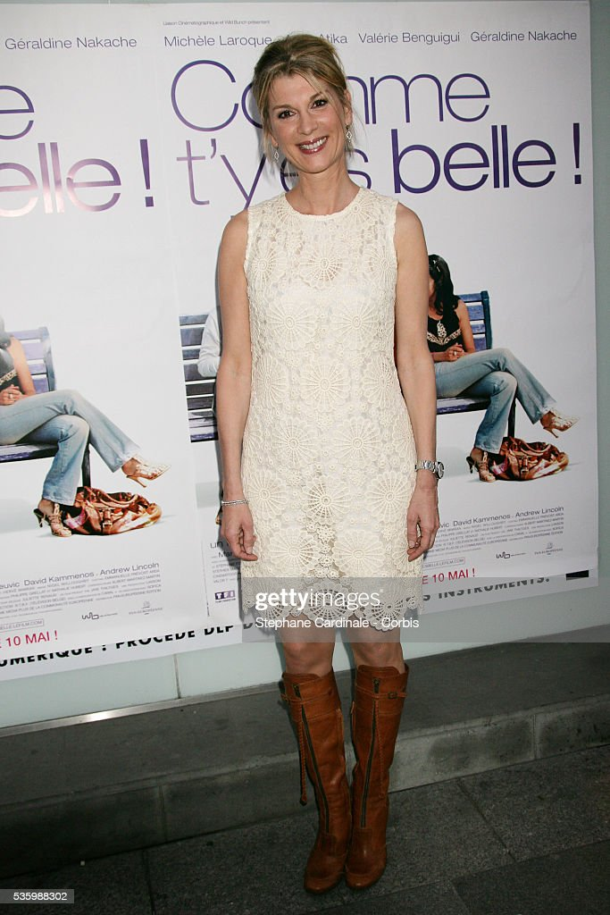 Michele Laroque at the premiere of 'Comme t'y es Belle', in Pairs.