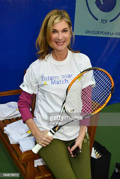 Michele Laroque attends the 'Enfant Star Match' Auction Cocktail At Tennis Club De Paris o on March 25 2013 in Paris France