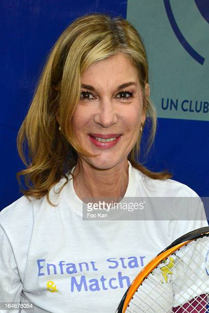 Michele Laroque attends the 'Enfant Star Match' Auction Cocktail At Tennis Club De Paris o on March 25 2013 in Paris France