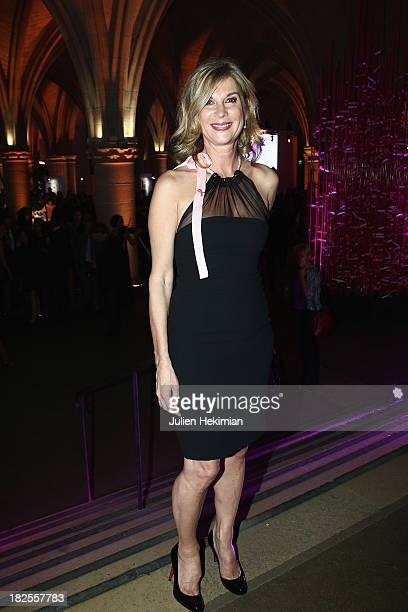 Michele Laroque attends the 'Octobre Rose' party hosted by Estee Lauder at La Conciergerie on September 30 2013 in Paris France
