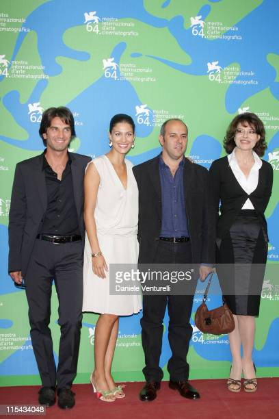 Michele Lastella Giulia Bevilacqua Vincenzo Marra and Fanny Ardant attends the 'L'ora di Punta' Photocall during Day 9 of the 64th Annual Venice Film...