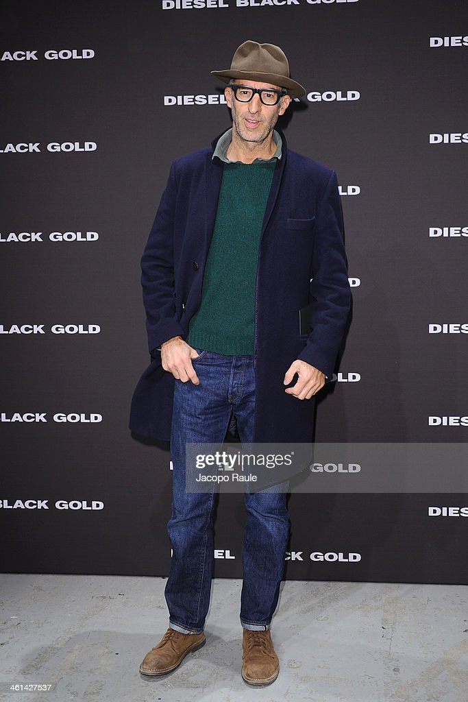 Michele Lupi attends Diesel Black Gold fashion show during Pitti Immagine Uomo 85 on January 8, 2014 in Florence, Italy.