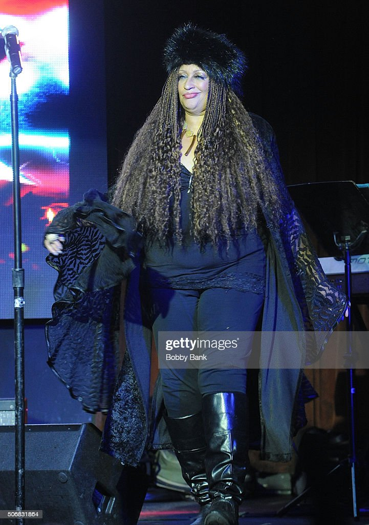 Michele Mais performs at the 'Rock Of Ages' Broadway Cast Reunion Concert at Highline Ballroom on January 25 2016 in New York City